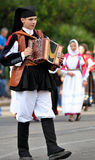 Musicians with the traditional costume of Sardinia. Stock Images