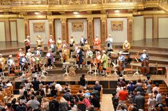 Musicians in the concert house of Vienna Royalty Free Stock Images