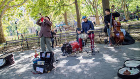 Musicians at Washington Square Garden Stock Images