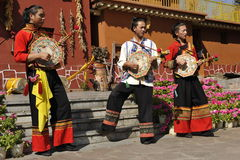Musicians of the Yi Minority, China Royalty Free Stock Photo