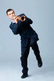 Musicien avec la trompette photos libres de droits