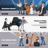 Musicien Banner Set illustration de vecteur
