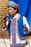 Musicien chinois avec des feuilles - Verona Tocati Photos stock