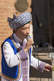 Musicien chinois avec des feuilles - Verona Tocati Photos libres de droits