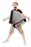 Musicien d'accordéon images stock