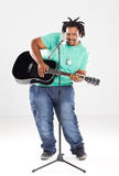 Musicien d'Afro-américain images stock