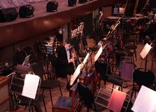 Musicien dans l'orchestre Photographie stock libre de droits