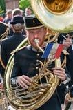 Musicien de bande française de corps de signal d'armée Photographie stock