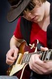 Musicien de bleus photo libre de droits