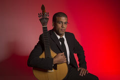 Musicien de Fado photographie stock libre de droits