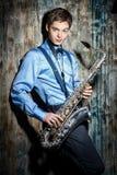 Musicien de jazz Photographie stock libre de droits