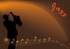 Musicien de jazz Images libres de droits