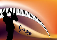 Musicien de jazz Photo stock