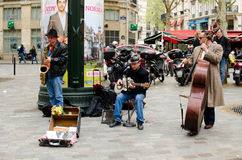 Musicien de la rue, Paris, France Photos libres de droits