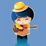 Musicien de poupée Photographie stock libre de droits