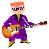 Musicien de roche Illustration Libre de Droits