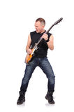 Musicien de roche Image libre de droits