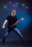 Musicien de roche Photo libre de droits