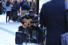 Musicien de rue à Sydney images stock