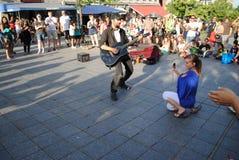Musicien de rue photographie stock