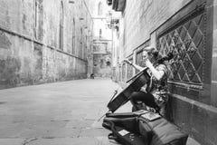 Musicien de rue Images stock
