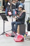 Musicien de rue image stock