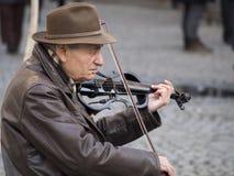 Musicien de rue de violon Photo libre de droits