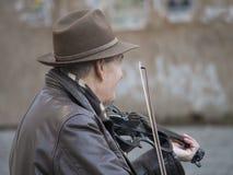 Musicien de rue de violon Photos libres de droits