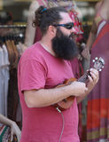 Musicien de rue de Zagreb Photo stock