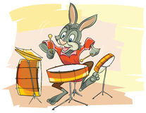 Musicien drôle de lapin Photos stock