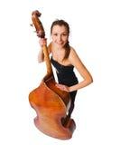 Musicien féminin avec son instrument photo libre de droits