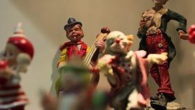 Musicien Figurine de clown banque de vidéos