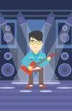 Musicien jouant la guitare électrique Photos libres de droits