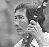 Musicien du Mékong photo stock