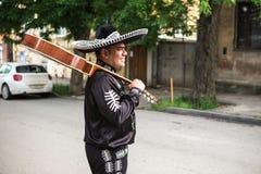 Musicien mexicain sur la rue de ville Photos libres de droits