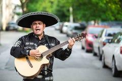 Musicien mexicain sur la rue de ville Photos stock