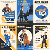 Musicien Poster Banner Set illustration stock
