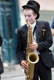 Musicien seul jouant Image libre de droits