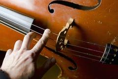 Musicien Touching Strings image libre de droits