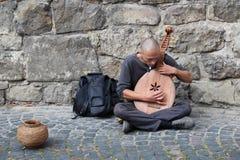 Musicien ukrainien de rue Photos stock