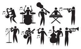 Musicien Vector Icon Set illustration libre de droits