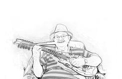 Musicien Yomo Toro Images libres de droits