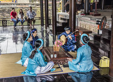 Musiciens à la tombe du TU Duc image libre de droits