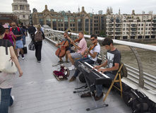 Musiciens à Londres Image libre de droits