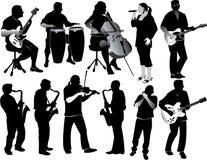 Musiciens Photographie stock