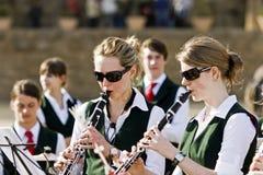 Musiciens d'années de l'adolescence photo libre de droits