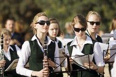 Musiciens d'années de l'adolescence Images stock