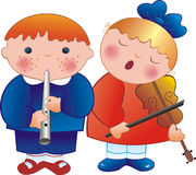 Musiciens d'enfants Photos stock