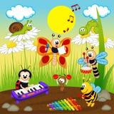 Musiciens d'insectes illustration de vecteur