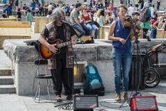 Musiciens de belvédère de Kondiaronk image stock